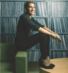 Julie Greenwald photographed at Atlantic Records in New York. Photograph by Matt Furman.